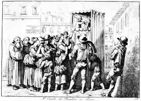 Bartolomeo Pinelli Il Casotto dei Burattini in Roma